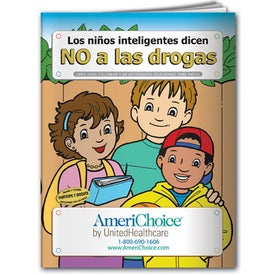 Smart Kids Say No to Drugs Coloring Book (Spanish, 10 Sheets)