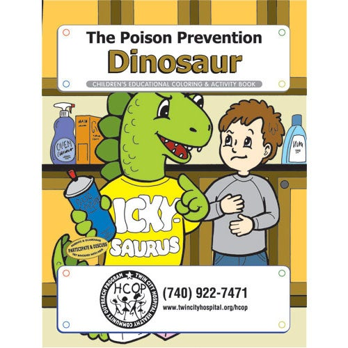 See Item Poison Prevention Dinosaur Coloring Book
