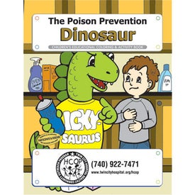 Poison Prevention Dinosaur Coloring Book (10 Sheets)