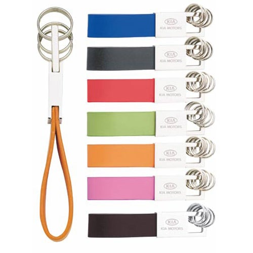 Colorplay or Chocolate Leather Key Ring