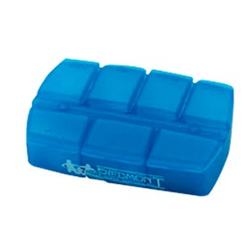 Compact 7 Day Pill Holder with Your Slogan