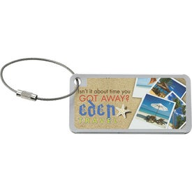 Imprinted Compact Luggage Tag