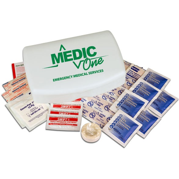 White Compact Plastic Medical Kit