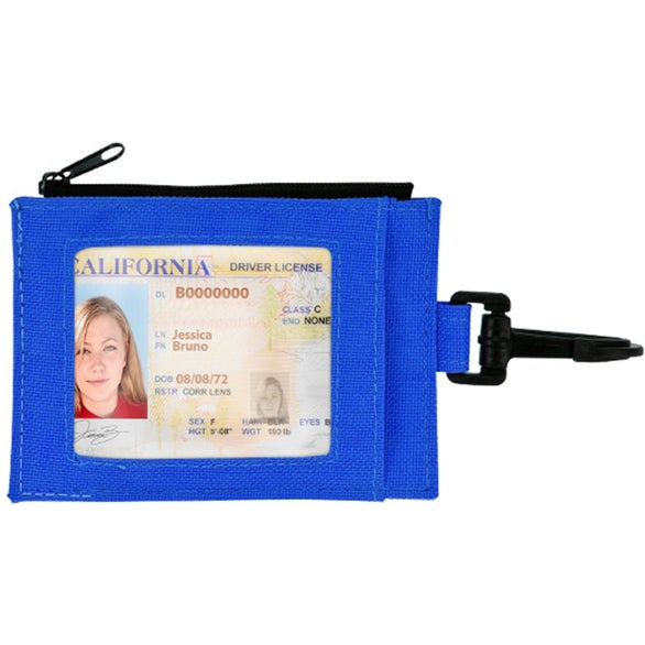 Blue / Black Compact Travel Wallet
