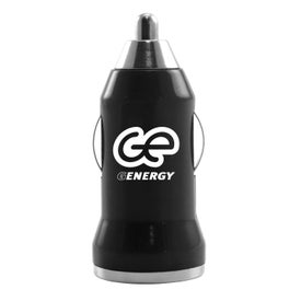 Logo Compact USB Car Charger