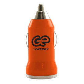 Compact USB Car Charger Imprinted with Your Logo