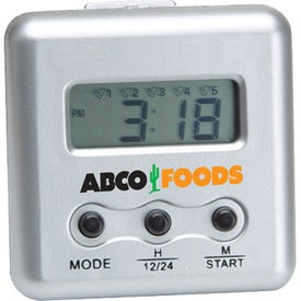 Compact Digital Count Down Timer Branded with Your Logo