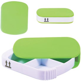 Four Compartment Pill Case Imprinted with Your Logo