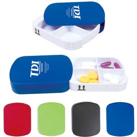 Promotional Four Compartment Pill Case