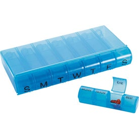 Advertising 28 Compartment Pill Organizer
