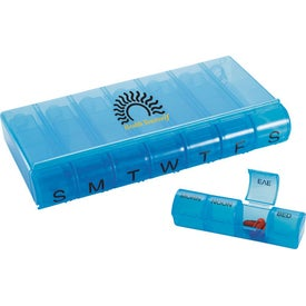 28 Compartment Pill Organizer Imprinted with Your Logo