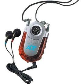 Monogrammed Compass Fm Auto-scan Radio