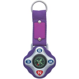 Branded Compass Key Ring