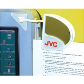 Computer Document Holder with Mirror Imprinted with Your Logo