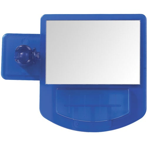 Translucent Blue Computer Mirror Memo Holder