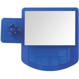 Monogrammed Computer Mirror Memo Holder