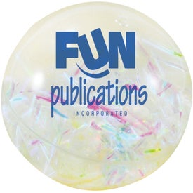 Confetti Light Up Ball Printed with Your Logo
