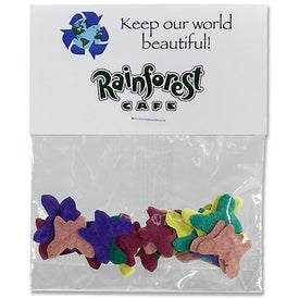 Shaped Seeded Paper Confetti with Your Slogan