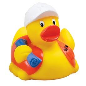 Construction Worker Rubber Duck