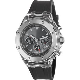 Customized Cool Clear Chronograph Calendar Watch