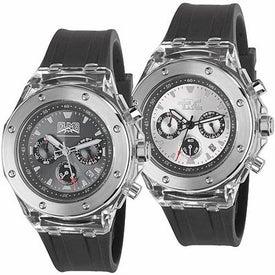 Cool Clear Chronograph Calendar Watch