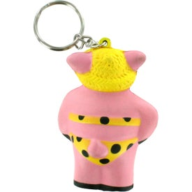 Branded Cool Pig Key Chain Stress Reliever