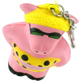 Cool Pig Key Chain Stress Reliever for Your Organization