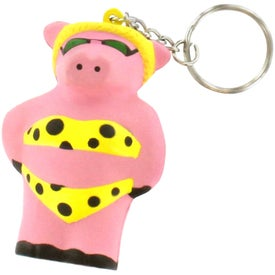 Cool Pig Key Chain Stress Reliever with Your Slogan