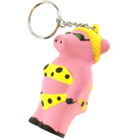 Cool Pig Key Chain Stress Reliever for Marketing