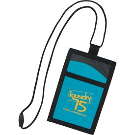 Cool Wave Neck Wallet Branded with Your Logo