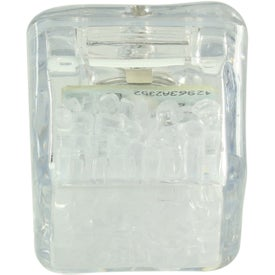 Clear Ultra Glow Ice Cube with Your Slogan