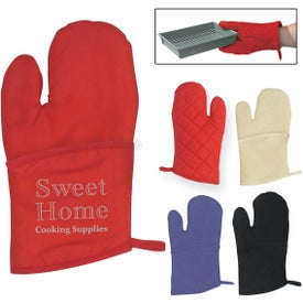 Quilted Cotton Canvas Oven Mitt for Advertising