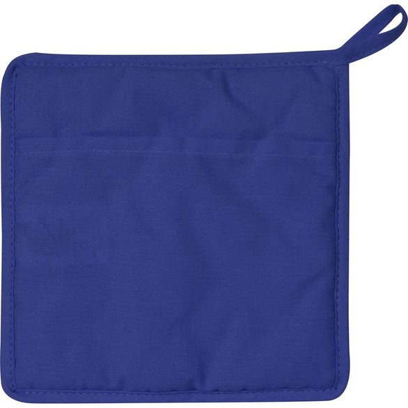 Royal Blue Quilted Cotton Canvas Pot Holder