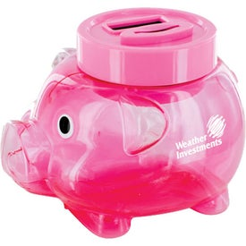 Company Counting Pig Bank