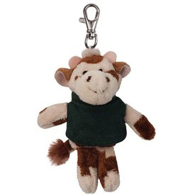 Cow Plush Key Chain