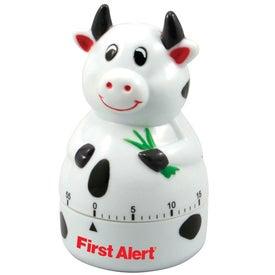 Monogrammed Cow Shape Timer