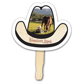 Cowboy Hat Shape Hand Fan (Digitally Printed)