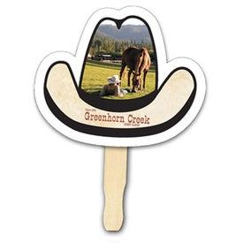 Cowboy Hat Shape Hand Fan (Digitally Printed)