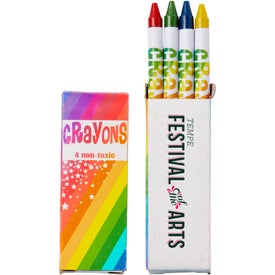 4 Color Crayon Pack