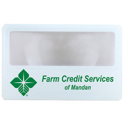 White Credit Card Magnifier
