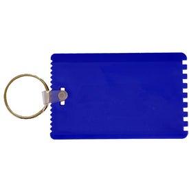 Printed Credit Card Scraper with Key Ring