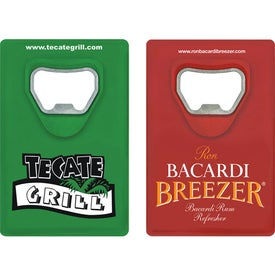 "Credit Card Bottle Opener (2.125"" x 3.625"" x 0.1875"")"
