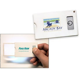 Credit Card Magnifier with LED Light for Advertising