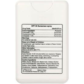 Imprinted Card Shape SPF 30 Sunscreen Spray