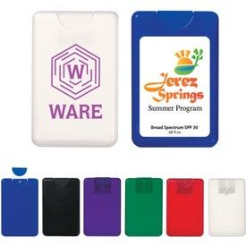 Promotional Card Shape SPF 30 Sunscreen Spray
