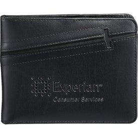 Imprinted Cross Passport Wallet