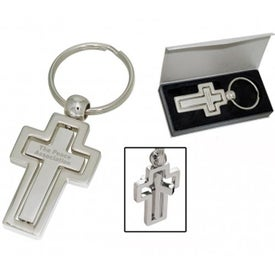Cross Spinner Keychain Imprinted with Your Logo