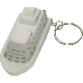 Imprinted Cruise Ship Key Chain