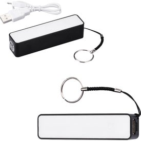 Cube Key Chain Power Bank Charger (2200 mAh, UL Listed)