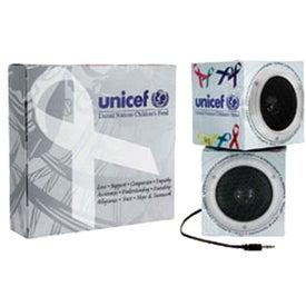 Promotional Cube Shape Portable Speakers